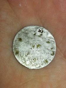 10 krajczar 1869 argint spate