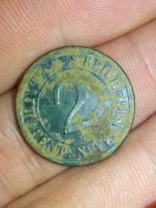 2 pfennig 1924 deutsches reich fata