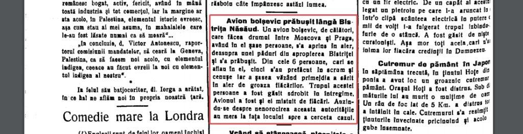 avion-prabusit-bistrita-1-1024x262 Groaza in cer -Avion de pasageri prabusit pe Herina 1937
