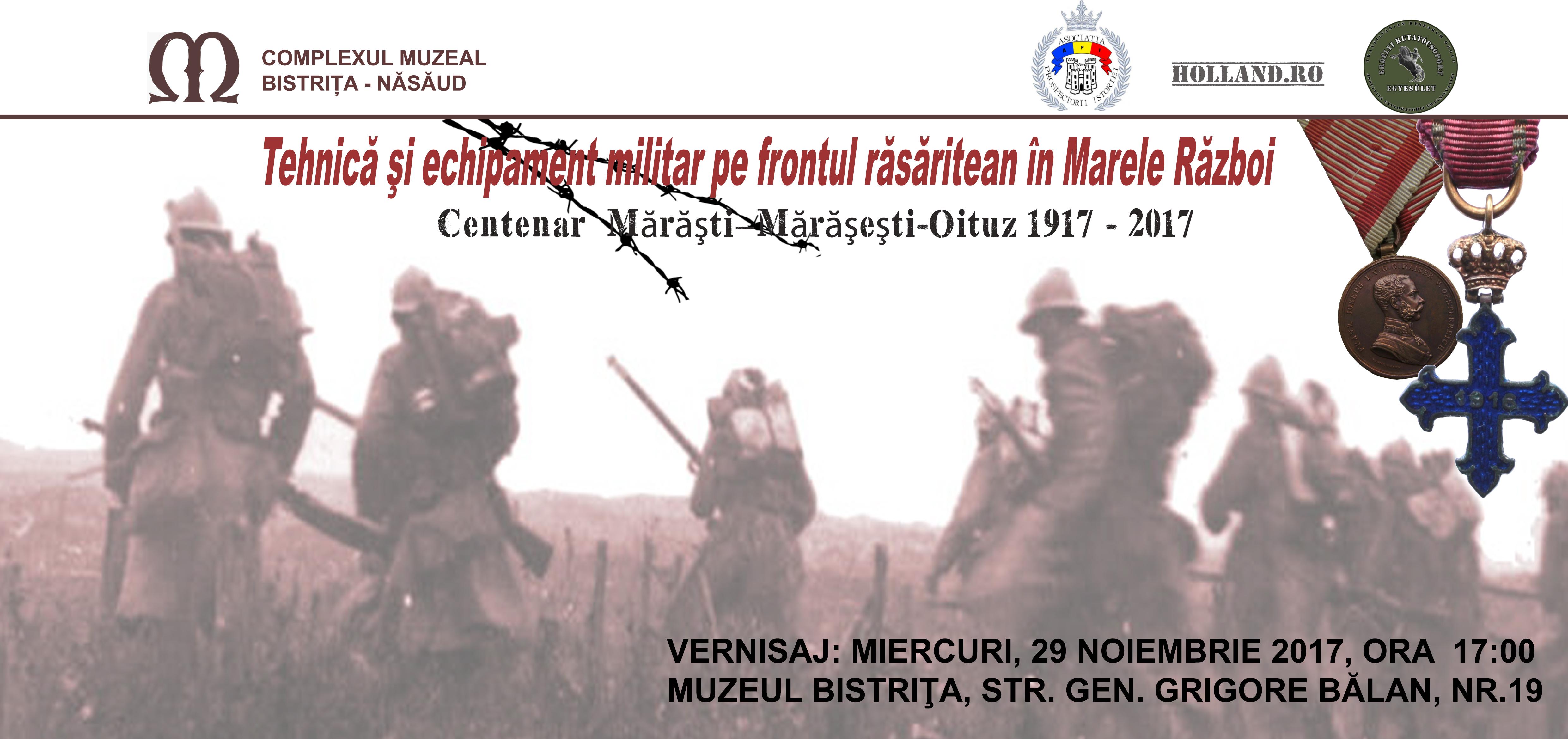 InvitatieOK Vernisaj Complexul Muzeal Bistrita-Nasaud  29.11.2017 Centernar ww1