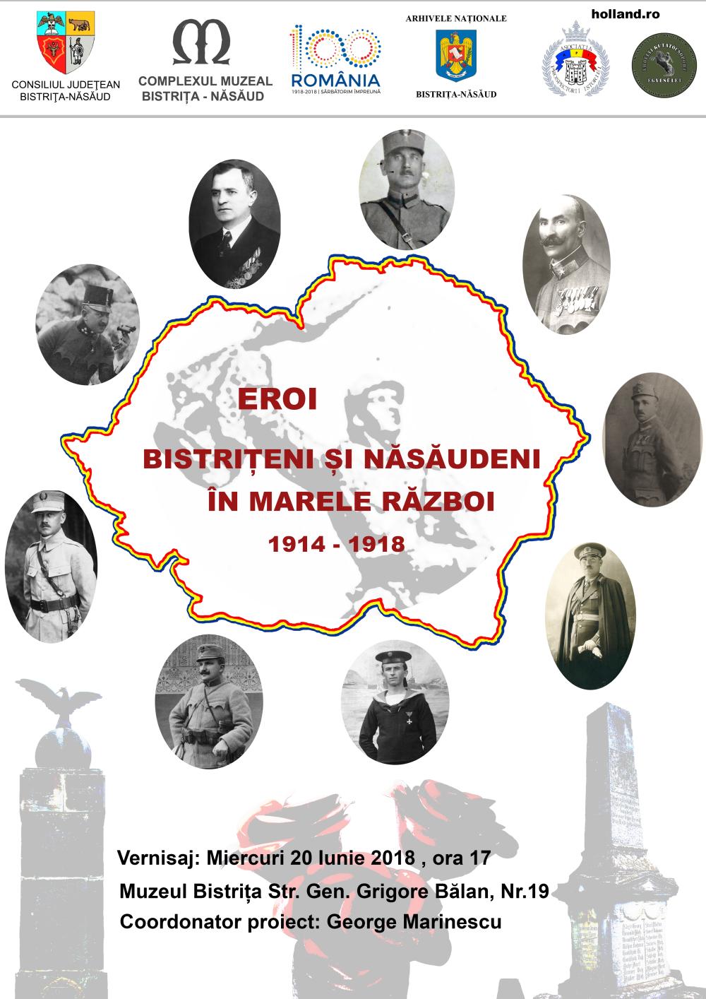 Eroi bistriţeni şi năsăudeni în Marele Război 1914-1918