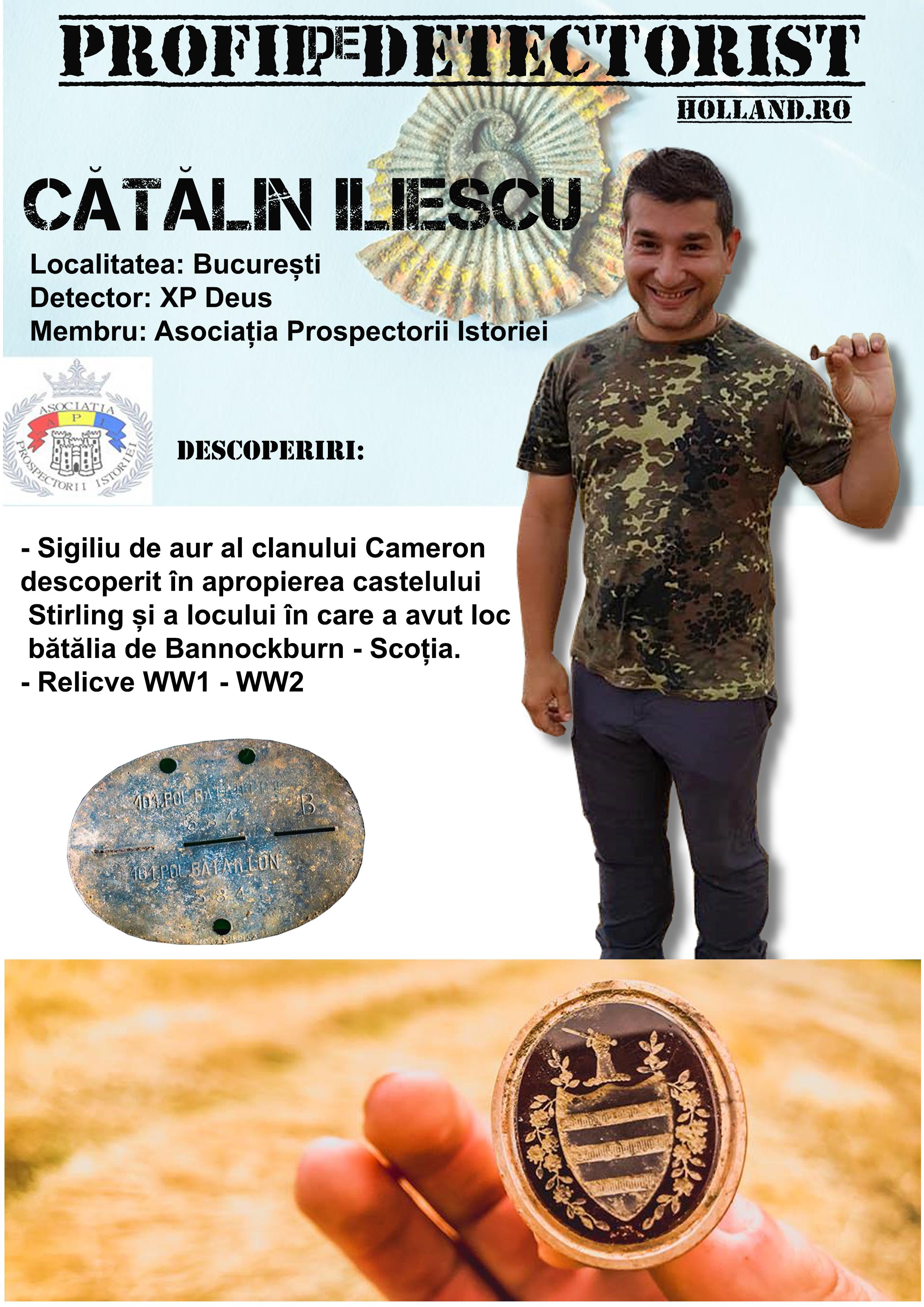 Profil de detectorist – Catalin Iliescu
