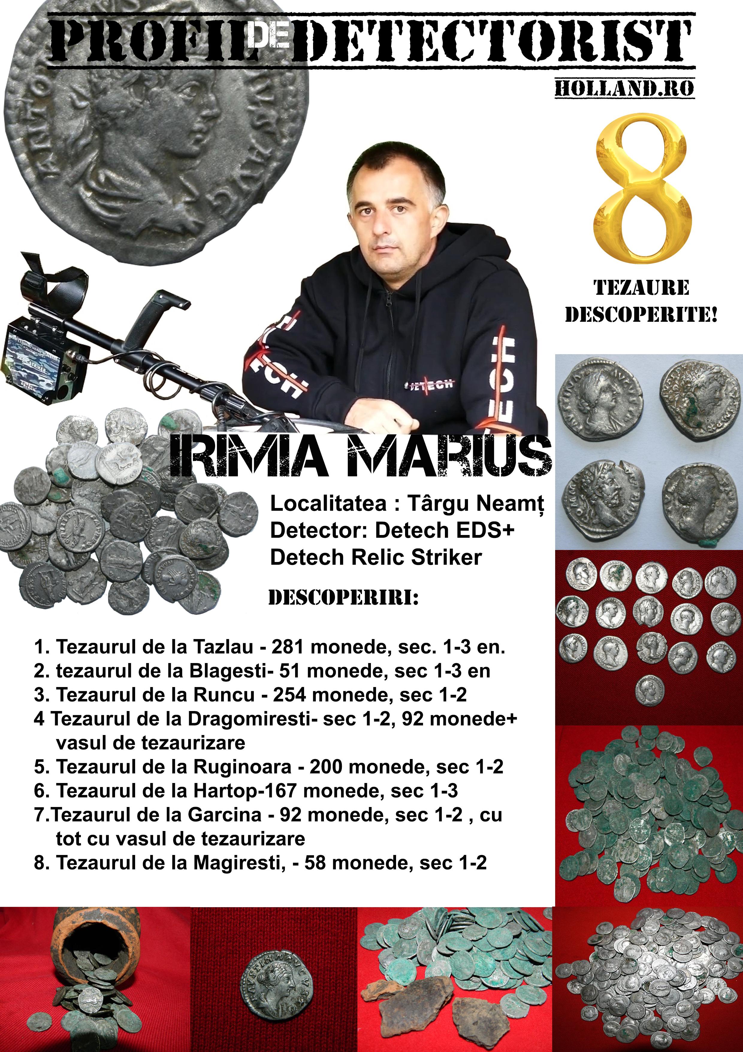 Profil de detectorist – Irimia Marius omul cu 8 tezaure descoperite