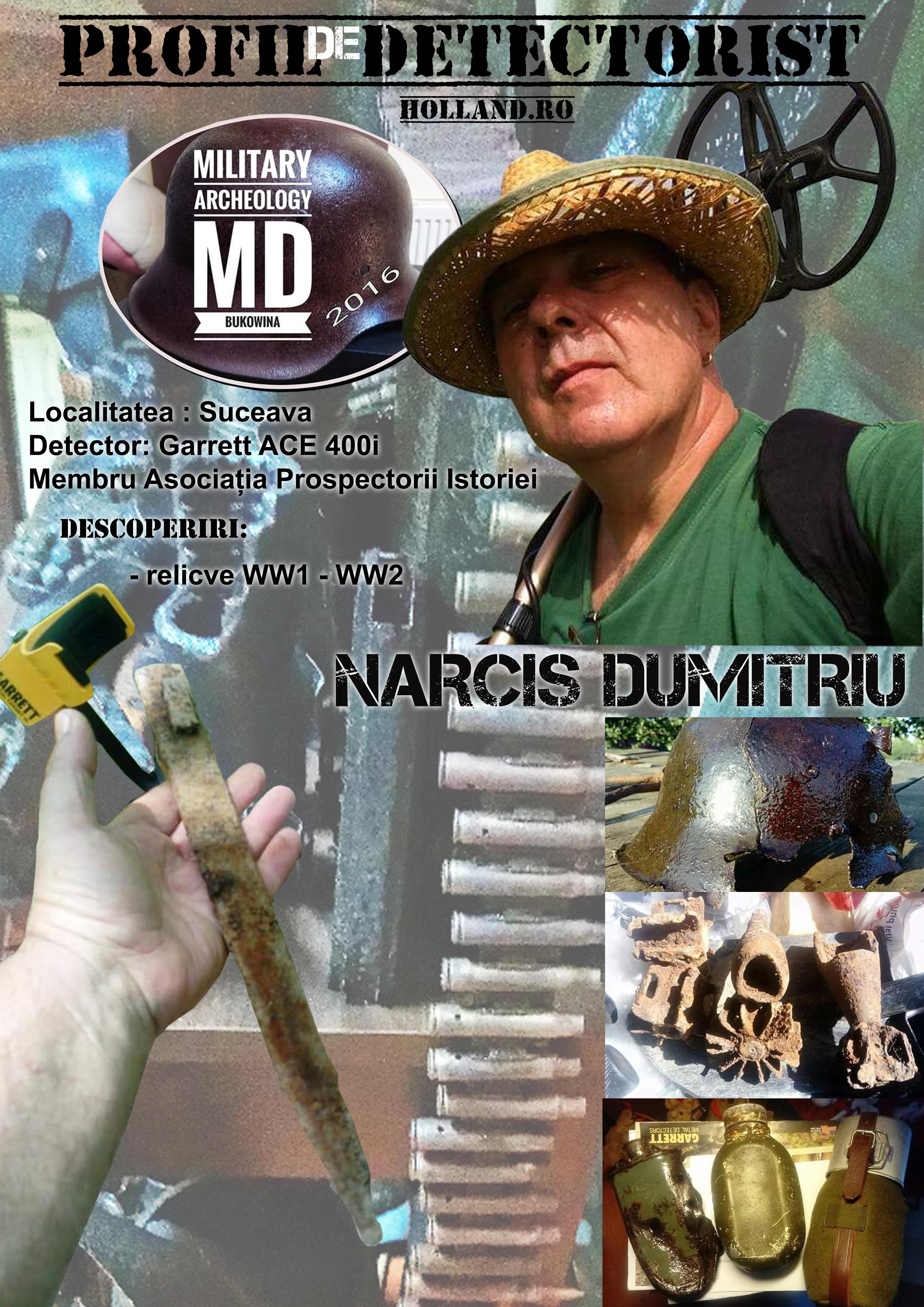 Profil de Detectorist – Narcis Dumitriu