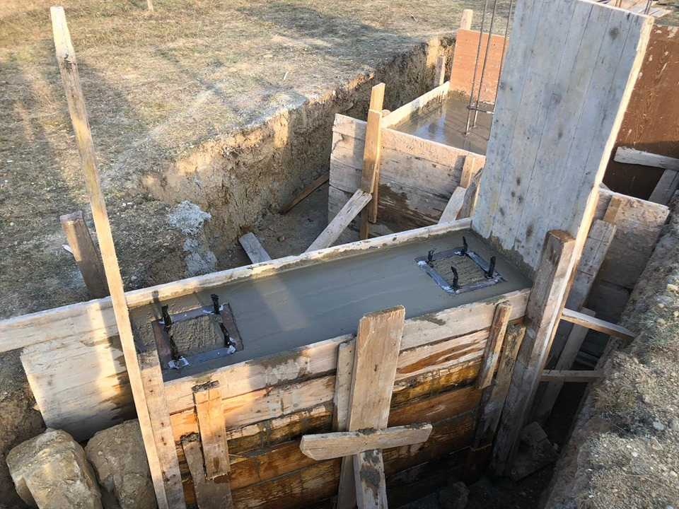 Stadiul lucrarilor – Ansamblul de monumente Cosna – sat Nicoresti, Comuna Pirgaresti.